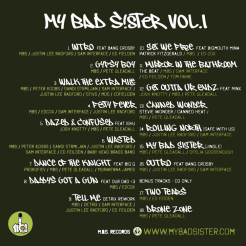 CD artwork for My Bad Sister: Vol.1