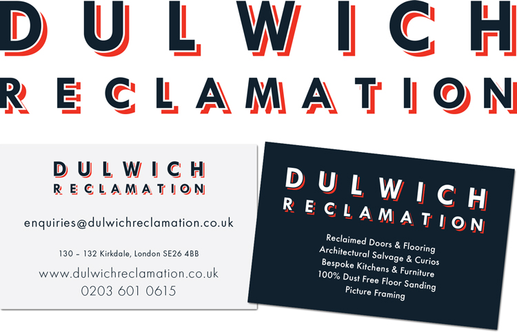 Dulwich Reclamation logo and business card