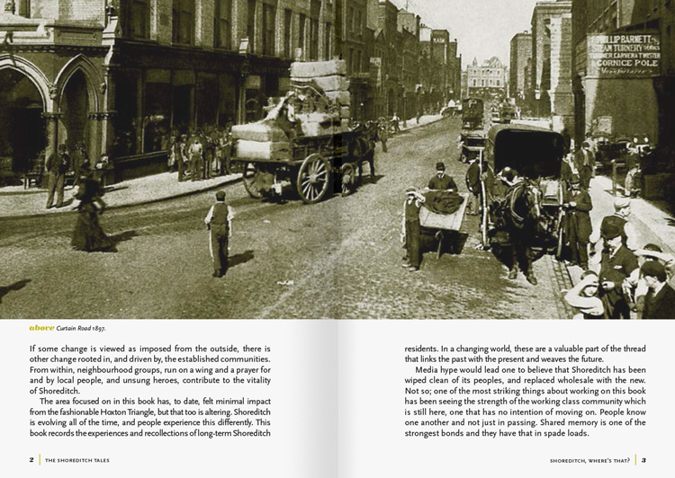 A spread from the Shoreditch Tales