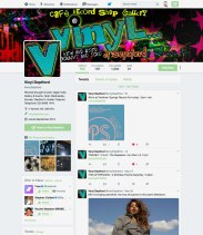 A screen grab of Vinyl deptford's Twitter page